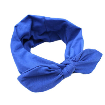 Harga Velishy Wide Ribbon Headband Blue - Intl