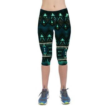 LALANG Exercise Leggings Sports Fitness Stretch Cropped Pants 30# - Intl