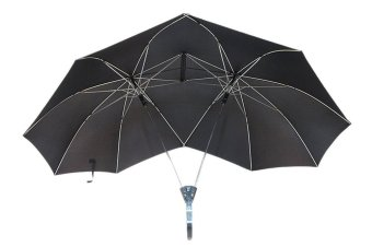 Harga Two Persons Travel Automatic Lover Couples Big Umbrella Black