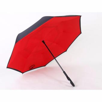 StarHome Payung Terbalik Kazbrella - Gagang C Reverse Umbrella Merah