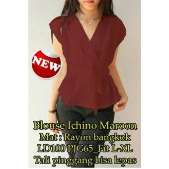 Harga Grateful Blouse Ichino - Maroon