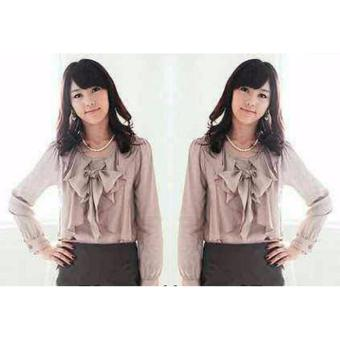 Harga Grateful Blouse Arista - Mocca