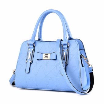 Harga Tas Wanita Fashion Woman Branded Pu Leather Handbags Import Korean And Japanese Ladies Style - Blue