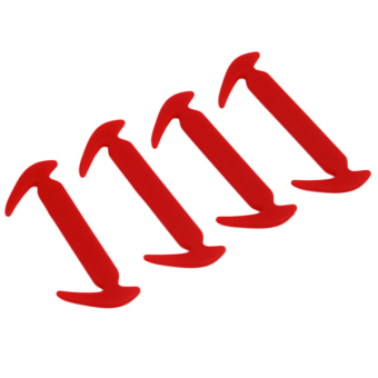 Hanyu Eco-Friendly Elastic Silicon Shoelace Fashion Lace Red