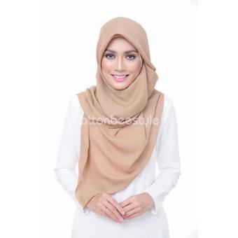 Harga Cotton Bee Daily Basic Hijab Square - Latte