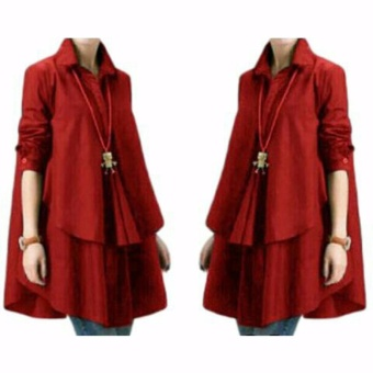Harga Yuki Fashion Blouse Hiraku - Merah