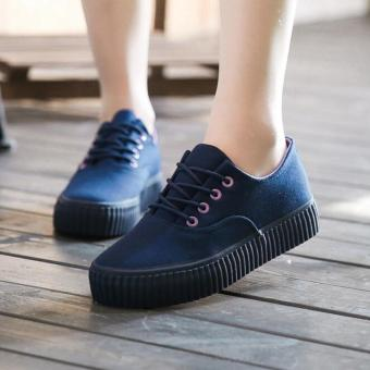 Fashion Women and Girl Classic Canvas Shoes BLUE