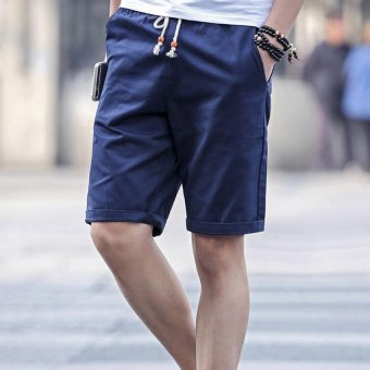 Harga Five Men Leisure Sports Shorts Blue - intl