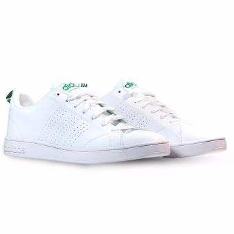 Harga Adidas Neo Advantage Clean White List Green Sneakers Shoes