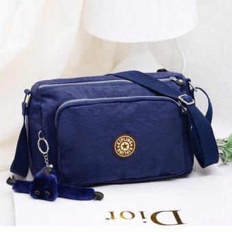 Canvas Shoulder Bag Women's Crossbody Bag Travelling Bag(blue) - intl