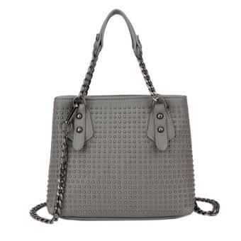 Harga KGS Tas Casual Wanita Metal Dots Chain Strap Mini Shoulder Bag - Abu Abu