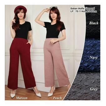 Harga SB Collection Celana Kulot Bianka Long Pant-Abu