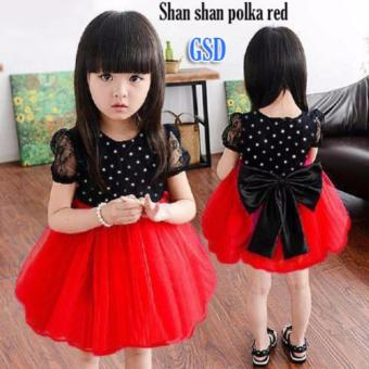 Harga GSD Ribbon Dress Dot Red
