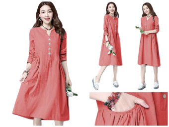 Harga SR Collection There Dress - Merah