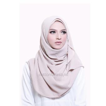 Harga Cotton Bee Pashmina Instant Adelyn - Light Beige