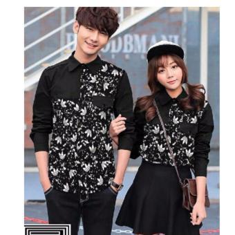 Jakarta Couple - Kemeja Couple Saku Add Black