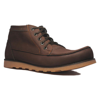 Harga D-Island Shoes Boots Projects Leather - Cokelat