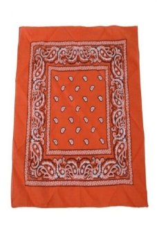 Harga Okdeals Mens Womens Sports Headwear Paisley Bandana Hairband Orange