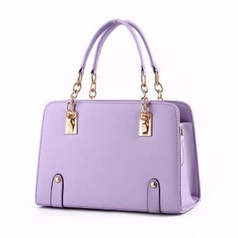 Harga Tas Fashion Wanita Woman Branded Pu Leather Handbags Import Korean And Japanese Ladies Style - Purple