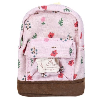 Harga Canvas Mini Floral Backpack Women Pink - Intl