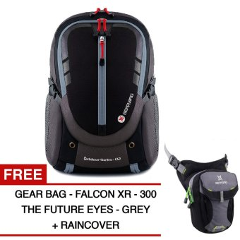 Harga Gear Bag - Cyborg X23 Backpack - Black Grey + Raincover + FREE Falcon X-300 The Future Eyes - Grey