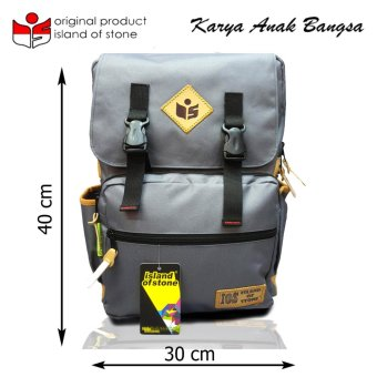 Harga Intristore Tas Pria Backpack Island of Stone - 25