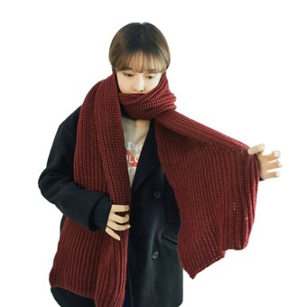Fashion Women Men's Knitted Scarf/Winter Warm Woolen Knitted Scarf Thick Shawls Wrap Neck Scarf