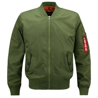 Harga Men Flight Jacket Military Air Force Bomber Jacket (Army Green) - intl