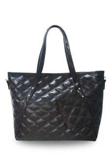 Harga QuincyLabel Tote Louise Bag - Black
