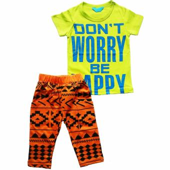 Harga Stelan Hijau Dont Worry Be Happy Celana Orange