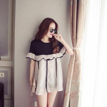 neck Stitching Contrast Color Source · Small Wow Maternity Korean Round Stitching Contrast .