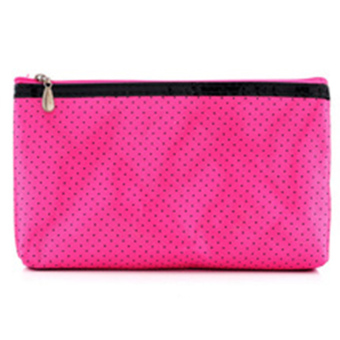 Harga Moonar Women Rectangle shaped Dots pattern Make up Cosmetic Bag (Rose) - Intl