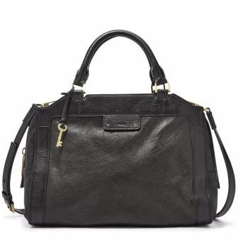 Harga Fossil Logan Large Satchel – Black, ZB 6974001