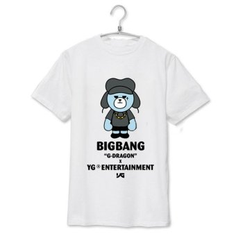 Harga ALIPOP KPOP BIGBANG MADE Concert Bear Shirt Album GD Shirts K-POP Cotton Clothes Tshirt T Shirt Short Sleeve Tops T-shirt DX208 (White) - intl