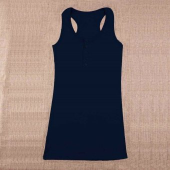 Harga Allwin Hot Ladies Women Girl Mini Sleeveless T-Shirt Tank Tops Cami Bodycon Vest Blue