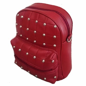 Harga Bag & Stuff Mini Korea Polkadot Backpack 2in1 - Merah