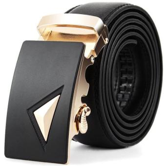 Harga Men Leather Automatic Buckle Belts Fashion Waist Strap Belt Waistband(Int: One size) - Intl
