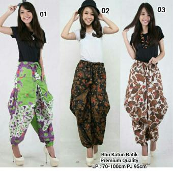 Harga SB Collection Celana Aladin Batik Icha Long Pant-Putih
