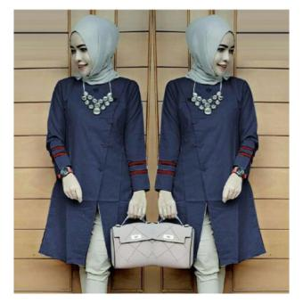 Harga Suki Blouse Bolly Top - Navy