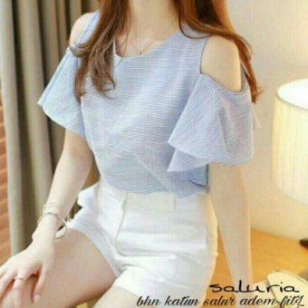 Harga Davecollection - blouse saluria - biru muda