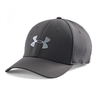Harga Under Armour Mens Headline Stretch Fit Cap, Charcoal/Steel, / - intl