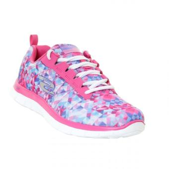 Harga Skechers Flex Appeal Atomic Splash Pink