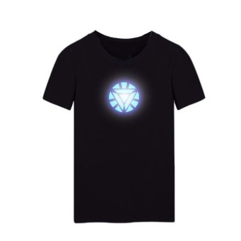 Harga High Quality Store New LED Sound Activated Arc Reactor Mens T-shirt Size S