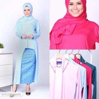 Harga Omah Fesyen Harumni Ethnic High Low Muslim Set - Teal