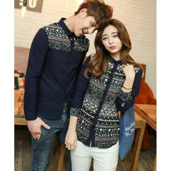 Harga Couple Store Cs - Kemeja Couple Nanami Navy