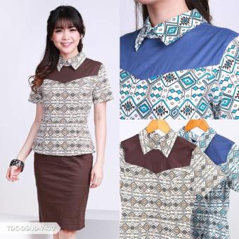 Harga Necida Ethnic Peplum Mini Dress - Brown