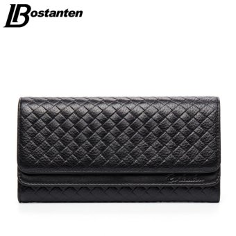 Harga Bostanten Real Genuine Leather Women Wallets Brand Design High Quality Hasp Cell phone Card Holder Long Lady Wallet Purse Clutch - intl