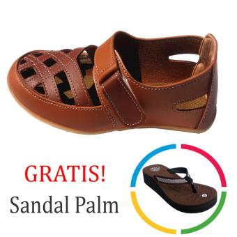 Local Sandal Flat Wanita Brown