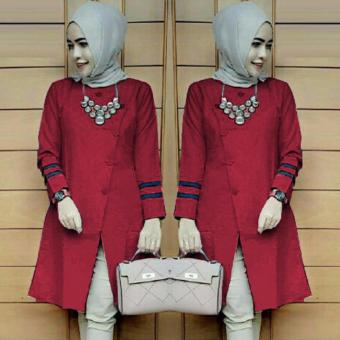 Harga Ace Fashion Tunic Long Sleeve Alexa (Red)