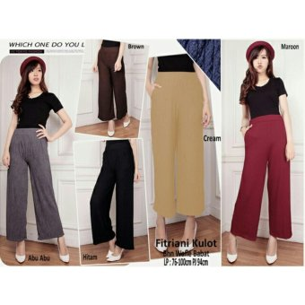 SB Collection Celana Kulot Fitriani long Pant-Cream